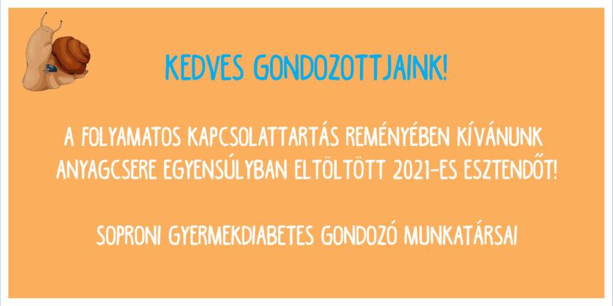 A Gyermekdiabetológiai Gondozó munkatársainak újévi jókívánsága!🎉🙏😊